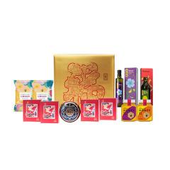 【年味·幸福里A1】坚果干货橄榄油礼盒套装 节庆礼品 年会500元奖品清单实用