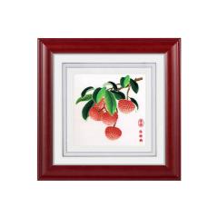 【廣繡荔枝】手工絲綢刺繡 家居裝飾 員工福利