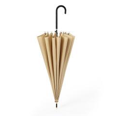 简约纯色直杆伞 16K清新PU手柄广告伞 可定制的实用礼品