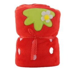 【草莓】水果卷卷毯精细做工精美图案 法兰绒面料舒适柔软 方便实用类的礼品