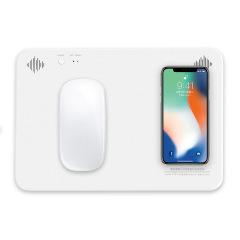 多媒体无线充鼠标垫 多功能蓝牙通话音响 QI无线充电宝鼠标垫 智能数码礼品定制