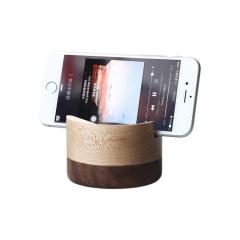 原创设计 纯手工实木手机支架 办公桌面手机架 简约木质手机充电线收纳底座 创意办公礼品
