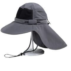 春夏成人户外钓鱼帽大檐护颈帽 UPF防晒遮阳帽 户外必备