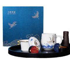 【大师茶叙·高士杯大师茶】高士杯×1+大师茶*3礼盒 高端商务礼品定制