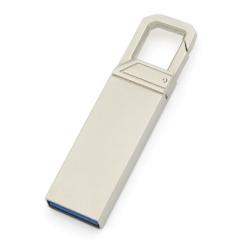 U盘定制 商务金属U盘 创意使用弹簧虎扣优盘 小巧商务礼品
