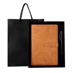 实用笔记本套装 A5搭扣笔记本签字笔两件套 礼盒装记事本
