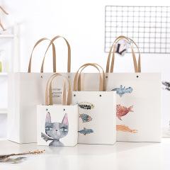 【猫咪小鱼】小清新文艺纸质手提袋生日伴手礼品袋