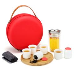 【合一福禄】陶瓷旅行茶具套装 企业周年纪念价值的礼物