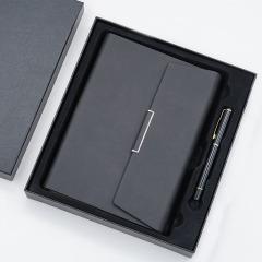商务A5活页笔记本礼盒 三折皮面记事本 笔记本签字笔两件套 会议礼品