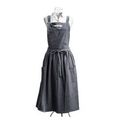 日系2021新款围裙 纯棉简约家用厨房围裙 北欧风时尚外穿围裙 简约精致礼品