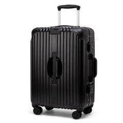 网红密码箱铝框拉杆箱 万向轮创意24寸定制礼品 旅行箱行李箱包 商务出差礼品定制