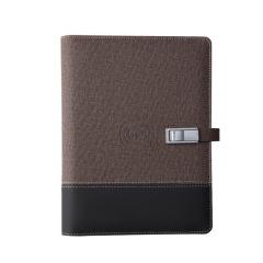 带无线充电笔记本 移动电源记事本 8000mAh充电宝+16gU盘 可定制logo