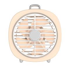 流萤复古桌面小台扇 迷你USB风扇灯 可转动网罩电风扇 送什么小礼品 日用礼品