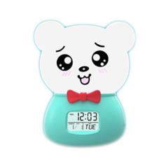 多功能藍牙音箱創意時鐘七彩變色硅膠燈充電小夜燈   活動創意禮品