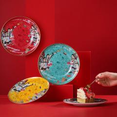 敦煌文创陶瓷餐具盘子套装 中国礼物千年心意 搬家送礼送什么好