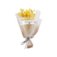 干花花束满天星 纸筒迷你花束 办活动的小礼品