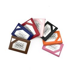 时尚便携纯色PVC多卡位证件套卡包 广告促销礼品