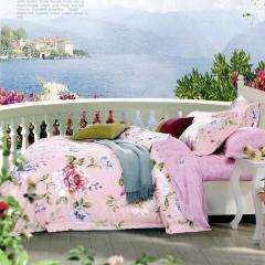 雅兰家纺(AIRLAND)粉黛佳人天丝床上四件套 床上用品