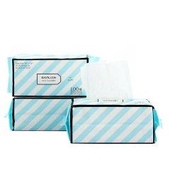 【100抽袋装】干湿两用抽拉毛巾 无纺布一次性卸妆洁面巾 促销小礼品