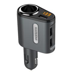现代 三USB接口车载充电器带电压检测 汽车礼品定制