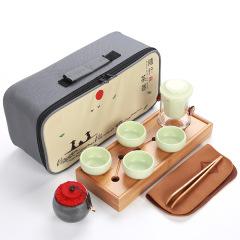 玻璃茗茶壶 定窑 一壶四杯茶盘茶具礼盒套装 旅行茶具礼品定制