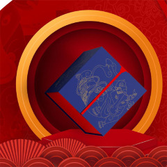 【福宴六合】徐福记翻转双层礼盒 玉瓷食器+徐福记零食 公司年庆奖品