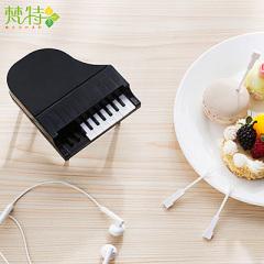 黑色鋼琴造型琴鍵水果叉--9支叉