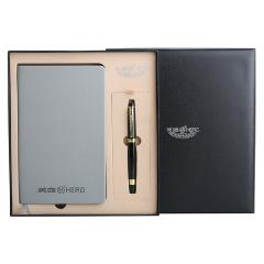 英雄(Hero)商务办公宝珠笔+A5笔记本礼盒套装 公司周年庆礼品有哪些