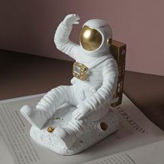 轻奢风描金宇航员创意书档 办公桌面书架 中秋送什么