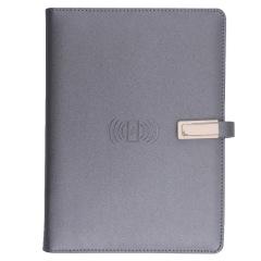 A5活页多功能无线充笔记本 带充电宝笔记本 移动电源可定制企业logo 会议礼品,商务礼品