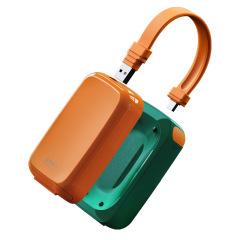 EARY 创意多功能自带线充电宝 自带插头三合一数据线移动电源7500毫安 创意礼品定制