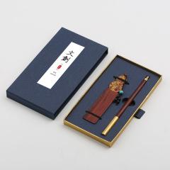 檀香木质签字笔书签礼盒 金属笔签字笔套装 高档商务礼品