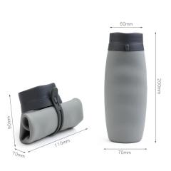 便携手提式折叠硅胶杯 户外旅行折叠杯 运动水杯 活动礼品