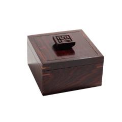 <福到>红木收纳盒(缅甸红酸枝) 商务办公礼品定制