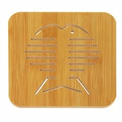 大号镂空防烫加厚木质隔热垫 杯垫--大鱼骨 促销礼品可以用哪些