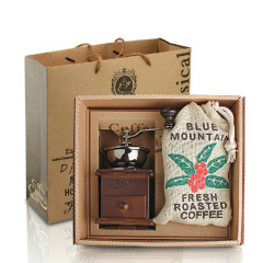 手搖磨豆機套裝 咖啡機+藍山咖啡豆套裝 送給客戶的創意禮品