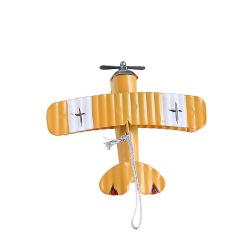 复古铁艺小飞机模型摆件 创意车载内饰 可爱桌面装饰铁皮飞机摆件 可爱小礼品