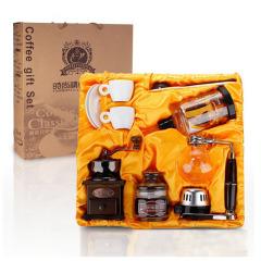 经典咖啡虹吸壶 咖啡磨豆机5件套礼盒套装 公司活动礼物