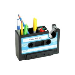复古卡带笔筒 三色可选磁带笔筒带胶带 创意有趣收纳笔座办公桌面 小礼品有哪些
