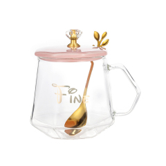 玻璃水杯套装 创意马克杯七夕礼物咖啡杯 员工生日礼品