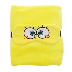 【海绵宝宝】小毛毯+眼罩组合套装 午休毯空调毯两用毛毯保暖 20块钱左右的实惠礼品