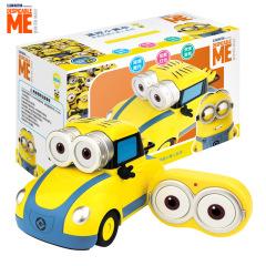 小黄人玩具车模型 电动亲子迷你无线遥控车 儿童礼品