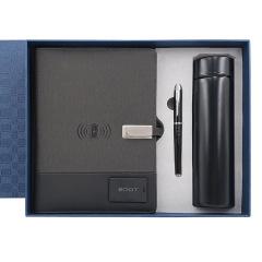 充电笔记本+保温杯+笔记本礼盒 U盘充电宝无线保温杯笔 活动礼品定制