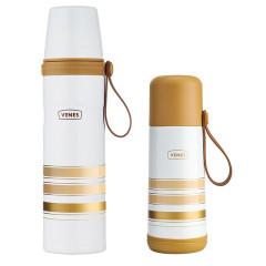 菲驰(VENES)保温壶304不锈钢保温杯运动壶套装350ML+800ML 纪念会议礼品