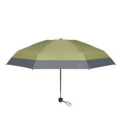 拼色黑胶五折伞 UV防紫外线迷你胶囊伞 遮阳伞定制