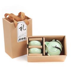 宋代名窑 定窑 一壶二杯茶具礼盒套装 茶具礼品定制 节日礼品