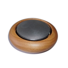 汽車香水創意黑胡桃實木汽車擺件固體沸石車載香薰      汽車小禮品