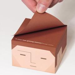 【程序员的忧伤】恶搞秃头便签纸 便利贴定制 纸砖定做 广告促销小礼品