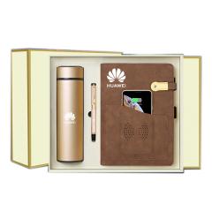 多功能无线充电笔记本礼盒套装 充电本+保温杯+笔+U盘 高端商务礼盒
