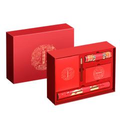 福礼福气 年货礼盒限量版 对联+笔记本+台历+檀木笔+窗花+福字+红包 春节送客户礼盒
